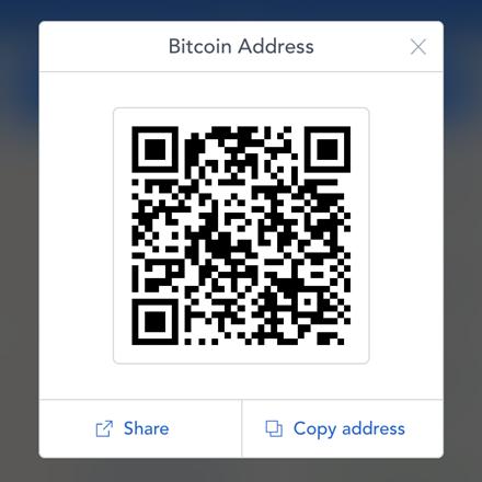 Coinbase QR code