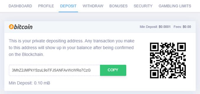 mbitcasino deposit page
